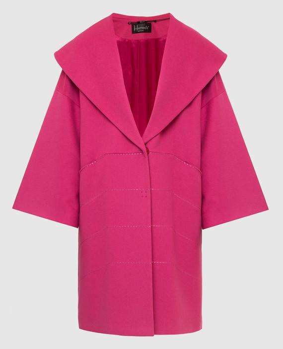 Малиновое пальто из шерсти и кашемира
