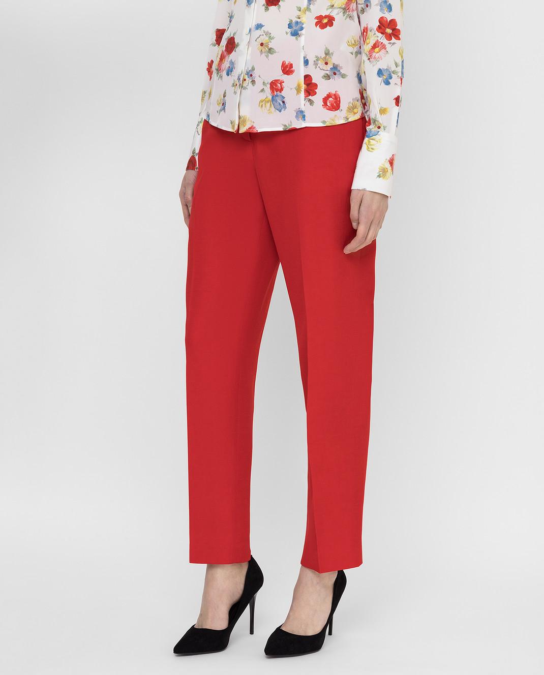 Ermanno Scervino Красные брюки D366P300DIE изображение 3
