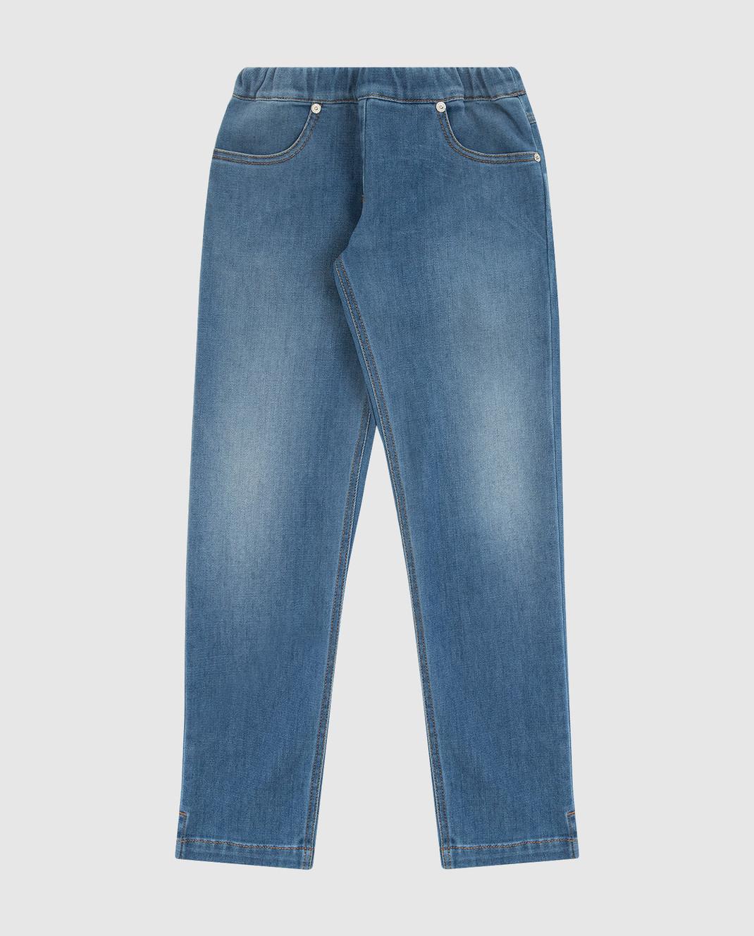 Ermanno Scervino Детские синие джинсы JL081012
