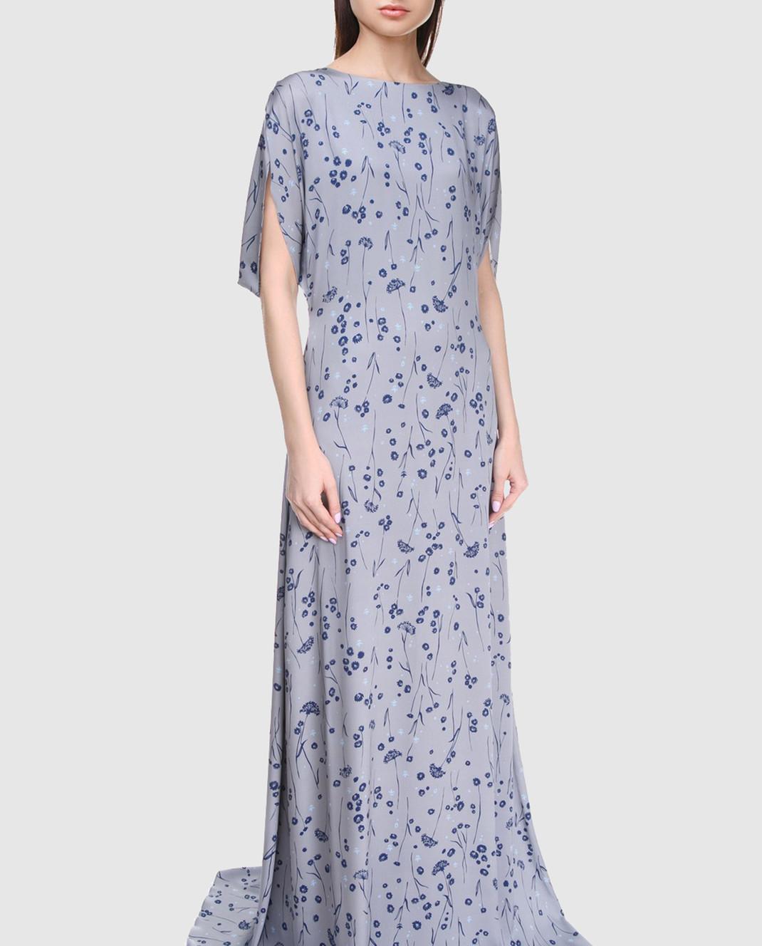 Alexander Terekhov Серое платье из шелка DE117 изображение 2