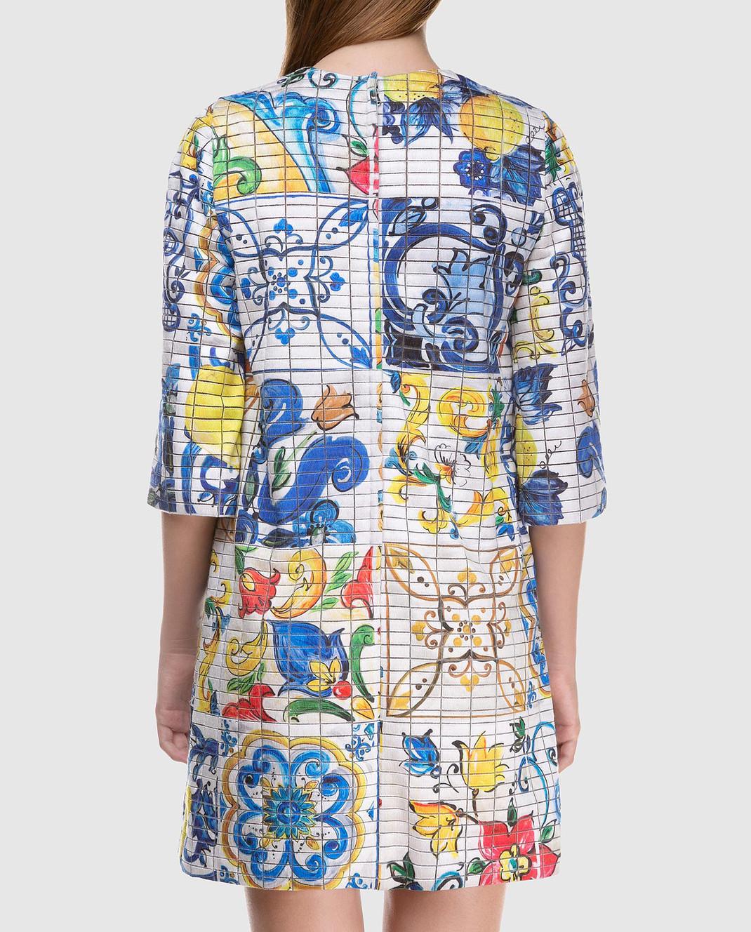 Dolce&Gabbana Платье из шелка F69U8THSMRW изображение 4
