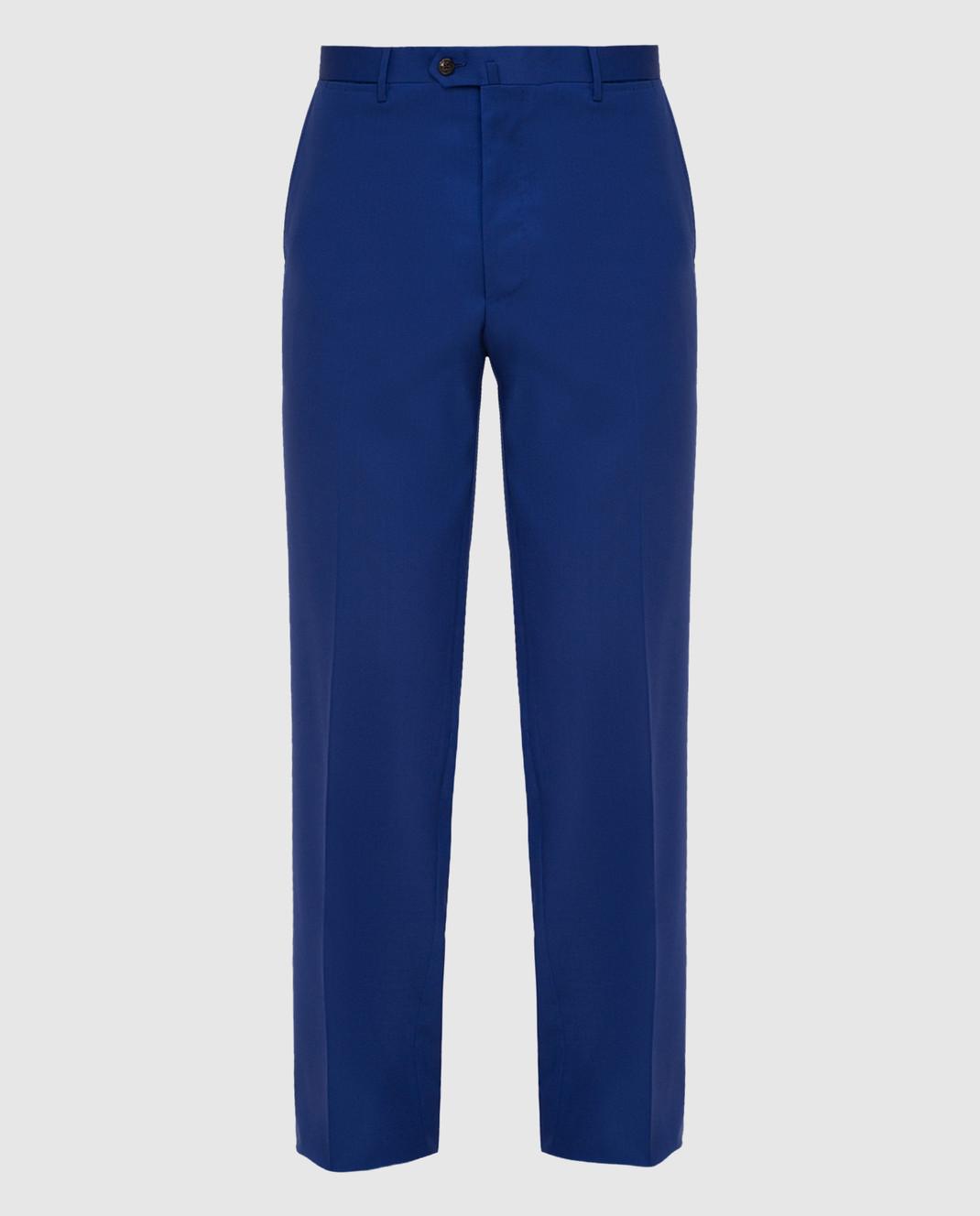 Castello d'Oro Синие брюки из шерсти изображение 1