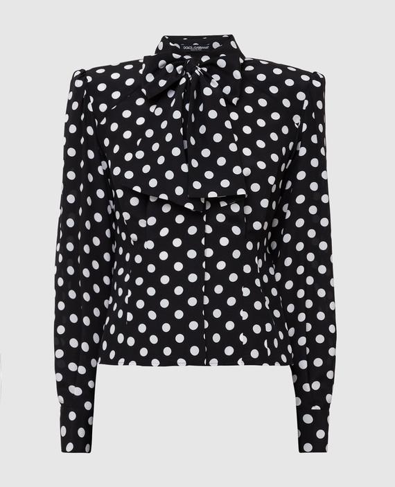 Черная блуза из шелка