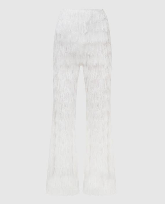 Белые брюки с кружевом