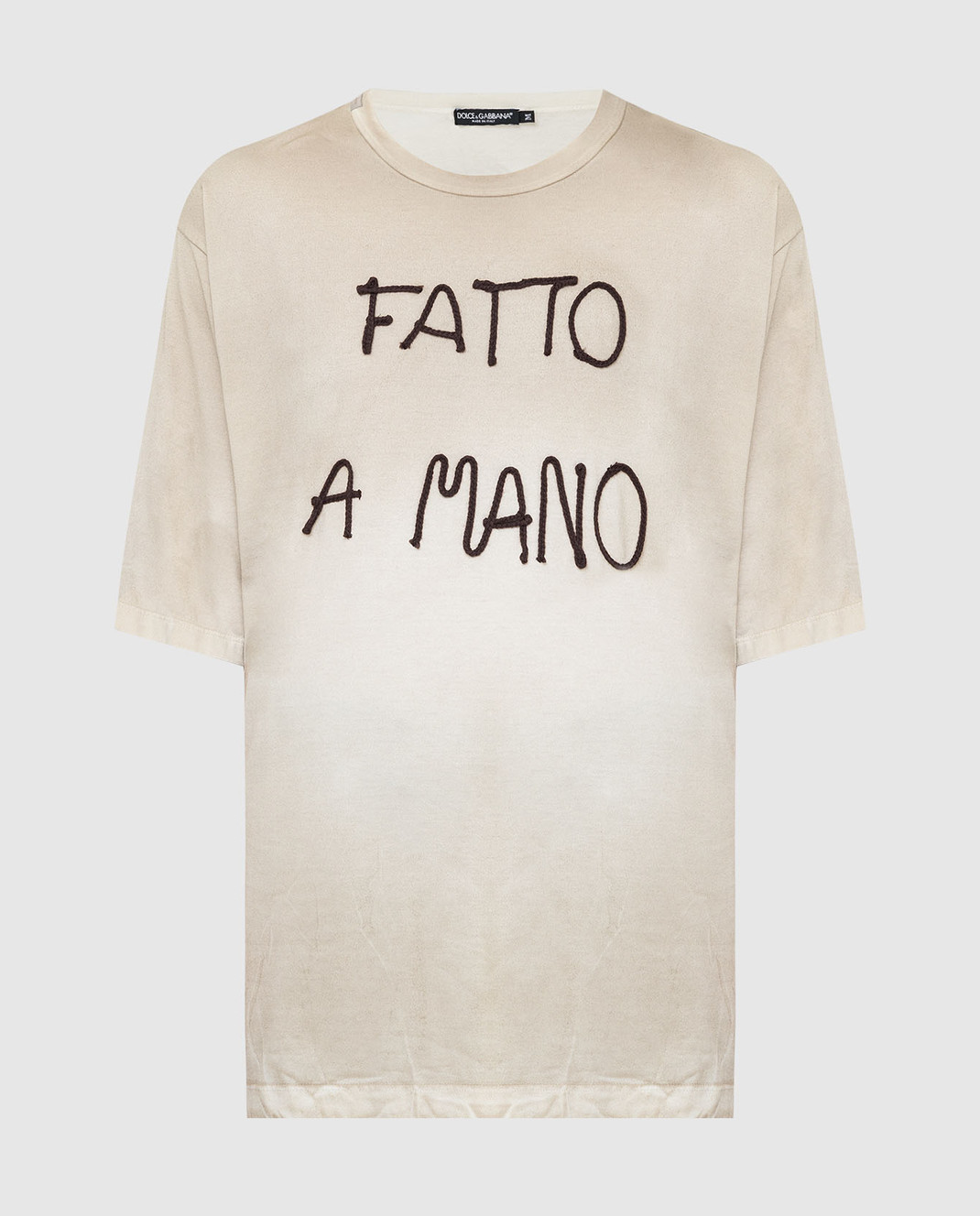 Dolce&Gabbana Бежевая футболка изображение 1