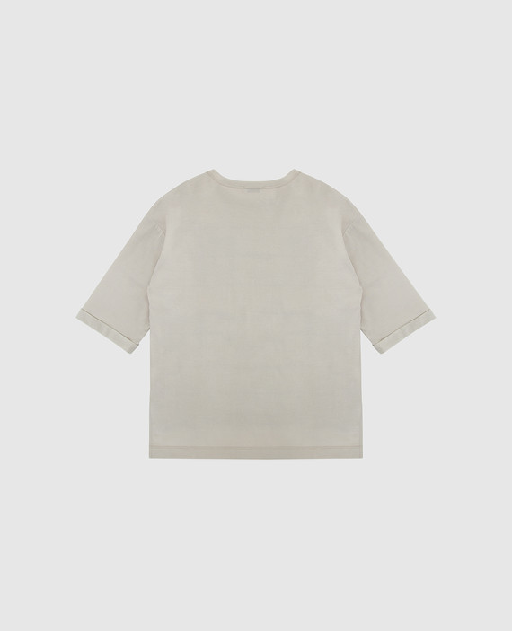 Детская светло-бежевая футболка hover