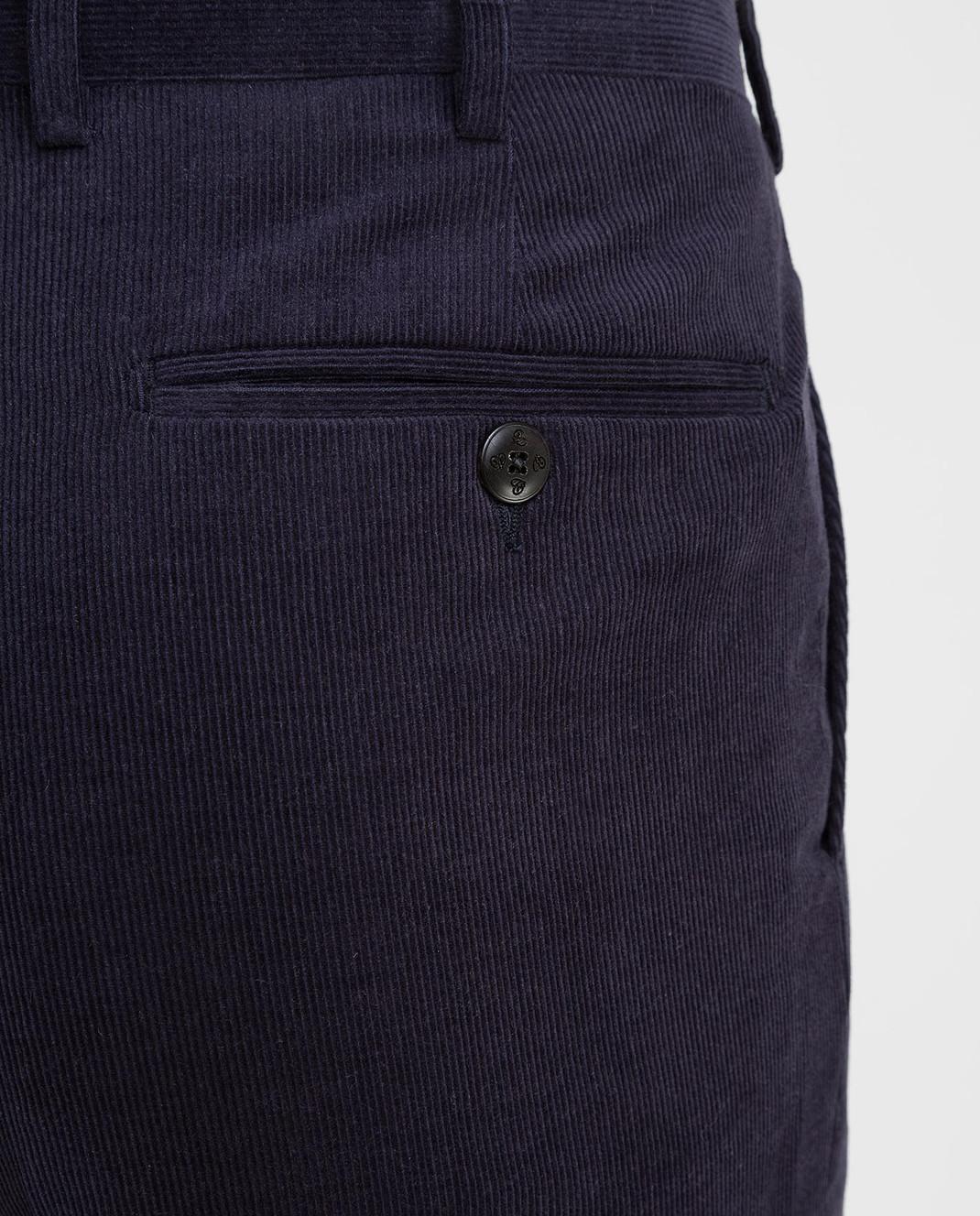 Castello d'Oro Темно-синие вельветовые брюки изображение 5
