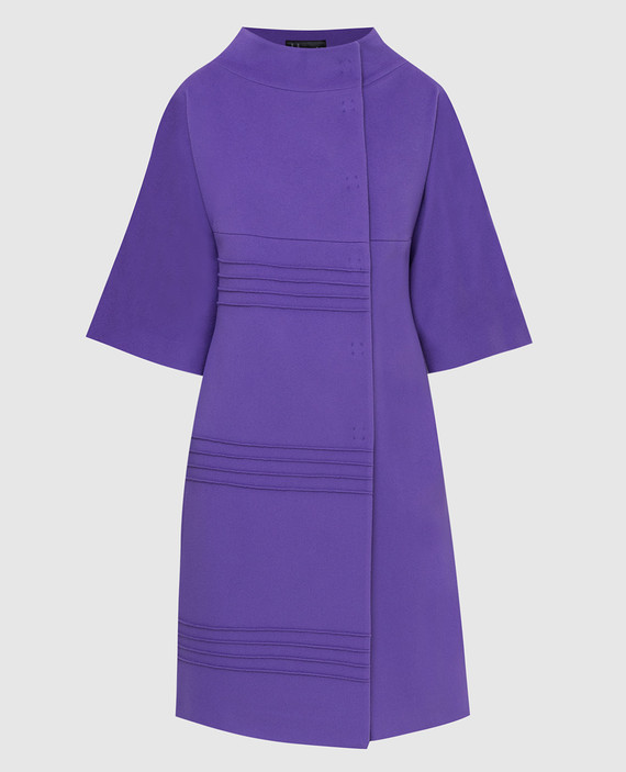 Фиолетовое пальто из шерсти