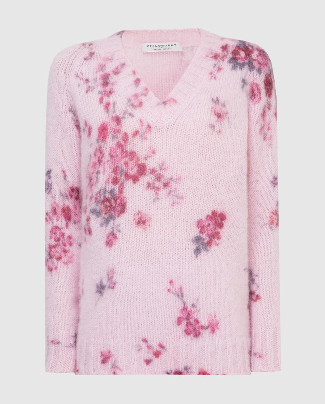 Philosophy di Lorenzo Serafini Розовый пуловер изображение 1