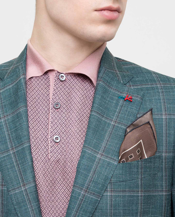 Коричневый платок из шелка hover