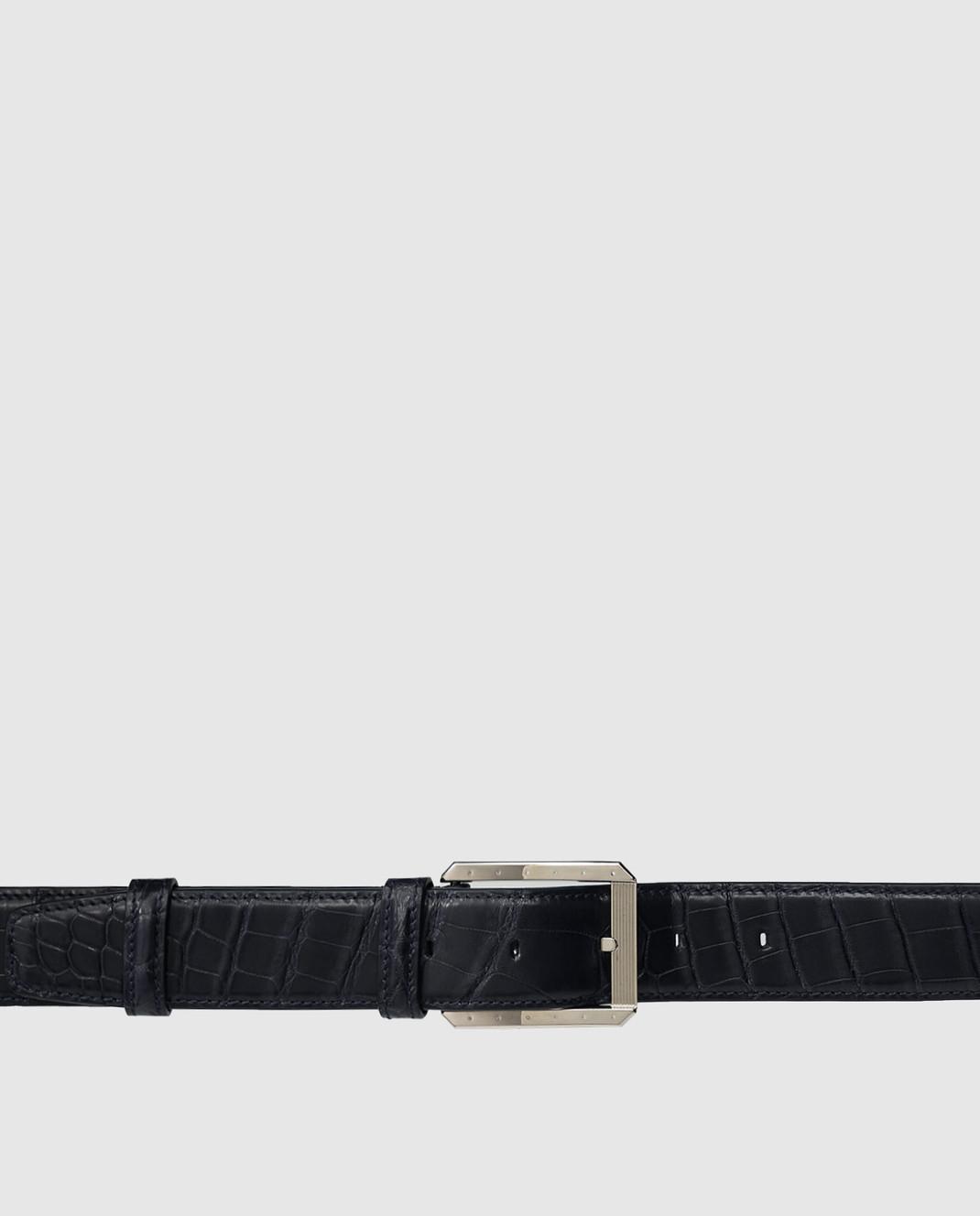 Stefano Ricci Ремень ручной работы из крокодиловой кожи N351CMA301P изображение 4