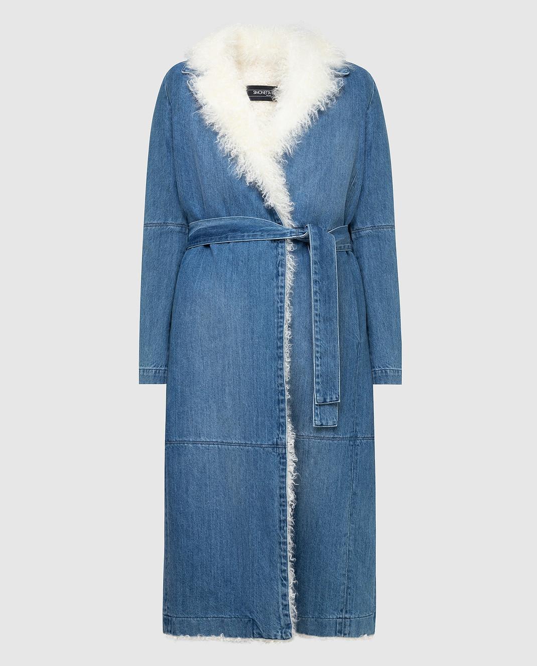 Simonetta Ravizza Синее джинсовое пальто VASIA3