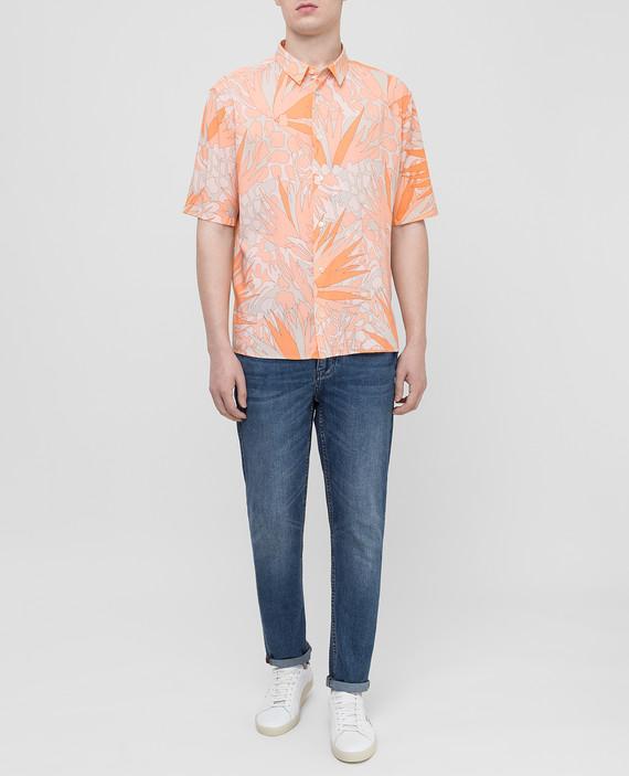 Светло-оранжевая рубашка hover