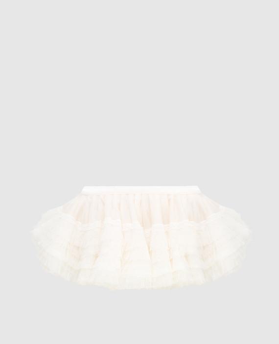 Светло-бежевое белье из шелка ручной работы