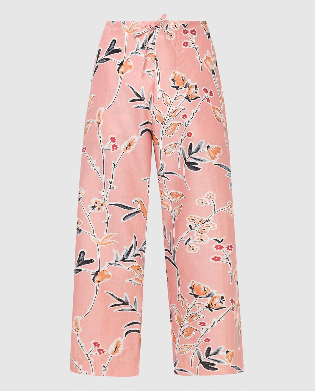 Marni Розовые брюки PAMAR02A00TCR58