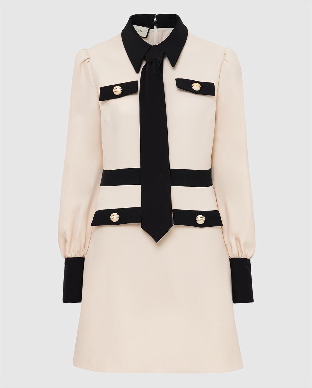 Gucci Светло-бежевое платье 595257