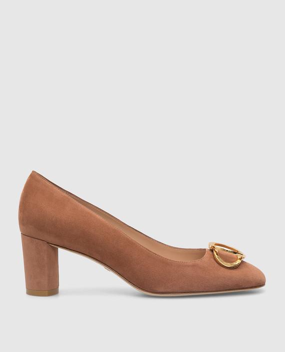 Коричневые замшевые туфли
