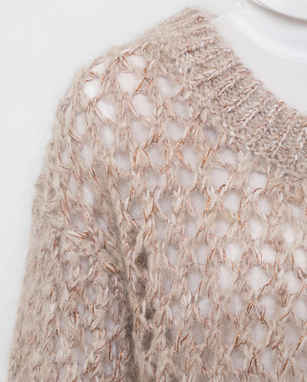 Brunello Cucinelli Бежевый свитер M9F386208 изображение 5