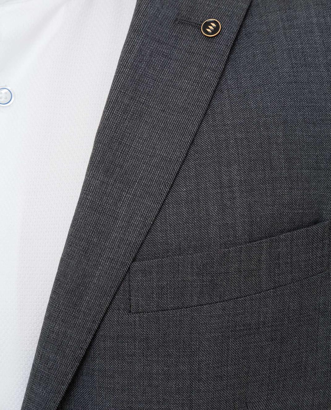 Florentino Темно-серый костюм из шерсти 219852960903 изображение 5