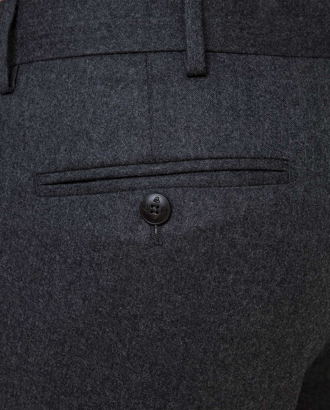 Castello d'Oro Темно-серые брюки из шерсти изображение 5