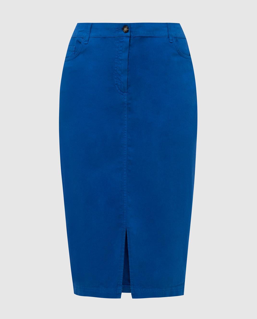 Marina Sport by Marina Rinaldi Темно-синяя джинсовая юбка CAROTENE