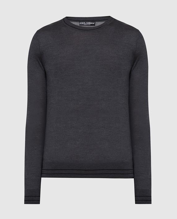 Темно-серый джемпер из шелка
