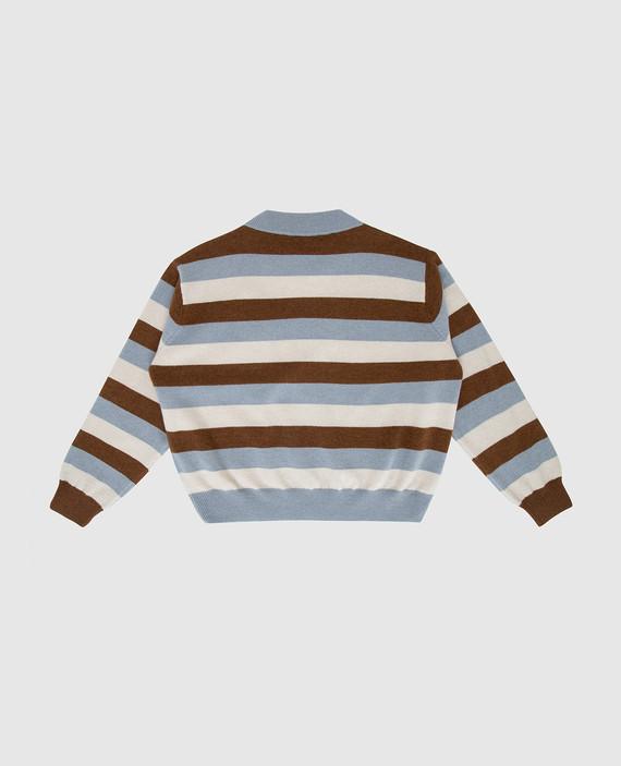 Детский свитер из шерсти, кашемира и шелка hover