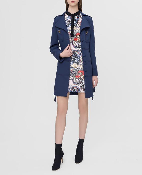 Синее пальто из шерсти hover