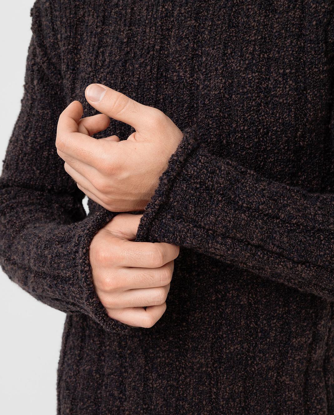 Dolce&Gabbana Коричневый свитер из шерсти изображение 5
