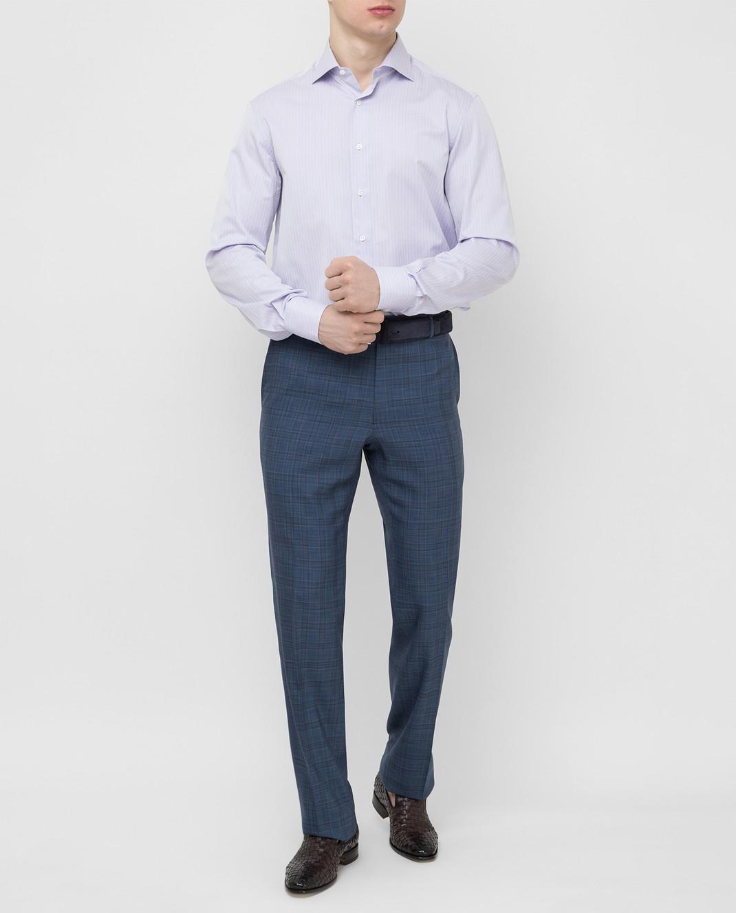 Stefano Ricci Сиреневая рубашка MC000540L1812 изображение 2
