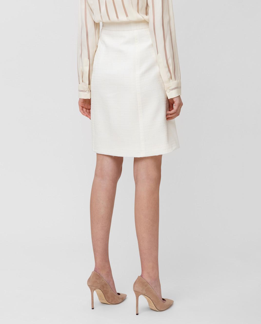Bottega Veneta Белая юбка 544961 изображение 4