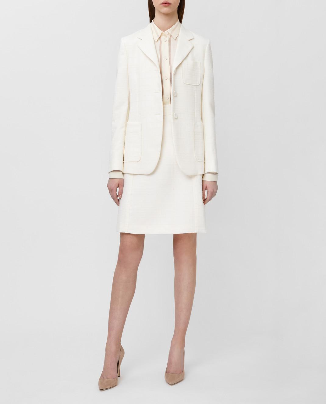 Bottega Veneta Белая юбка 544961 изображение 2