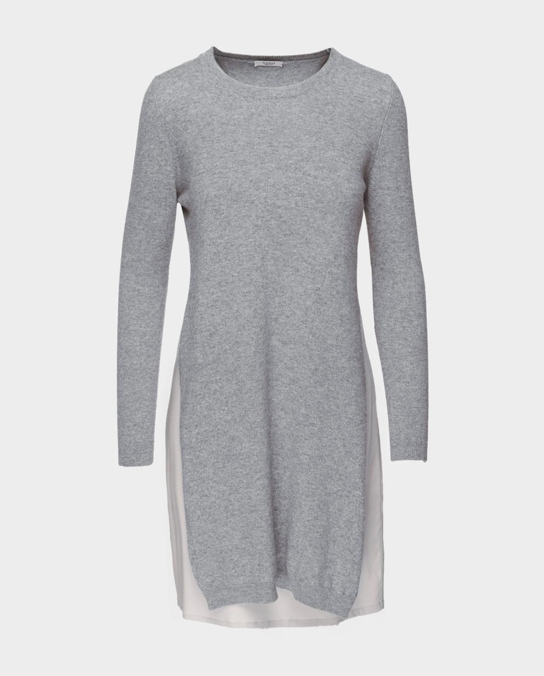 Peserico Серое платье из шерсти S82017F12U9018