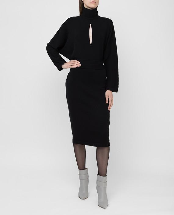 Черное платье из кашемира hover