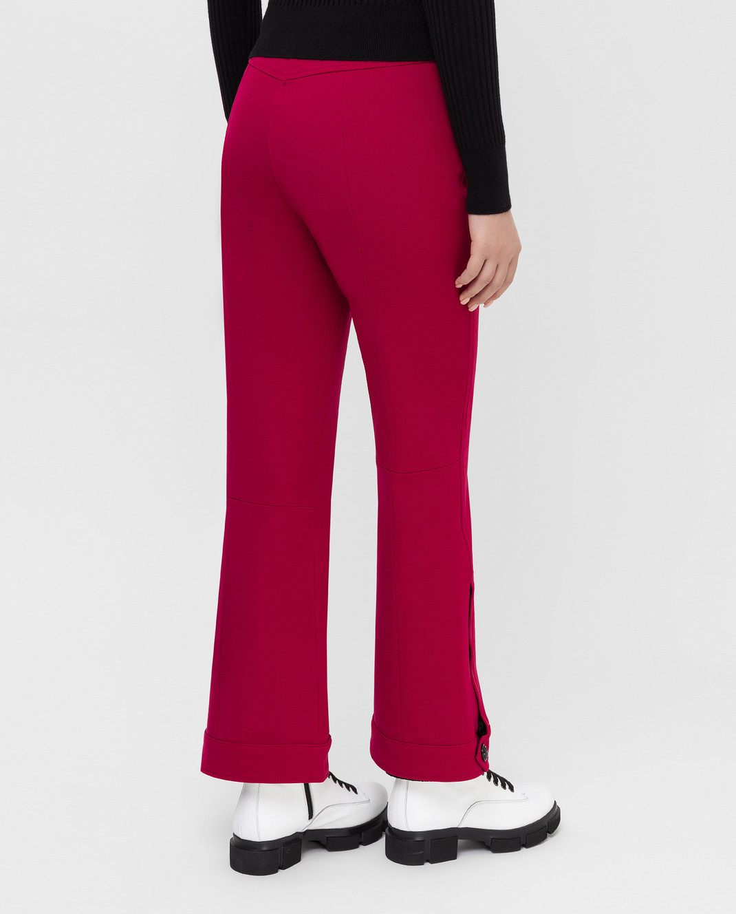 Moncler Grenoble Малиновые лыжные брюки изображение 4