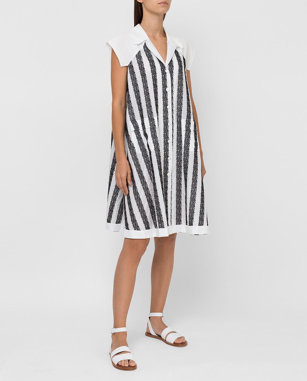 Azzedine Alaia Платье в полоску 6E9RF80CT159 изображение 2