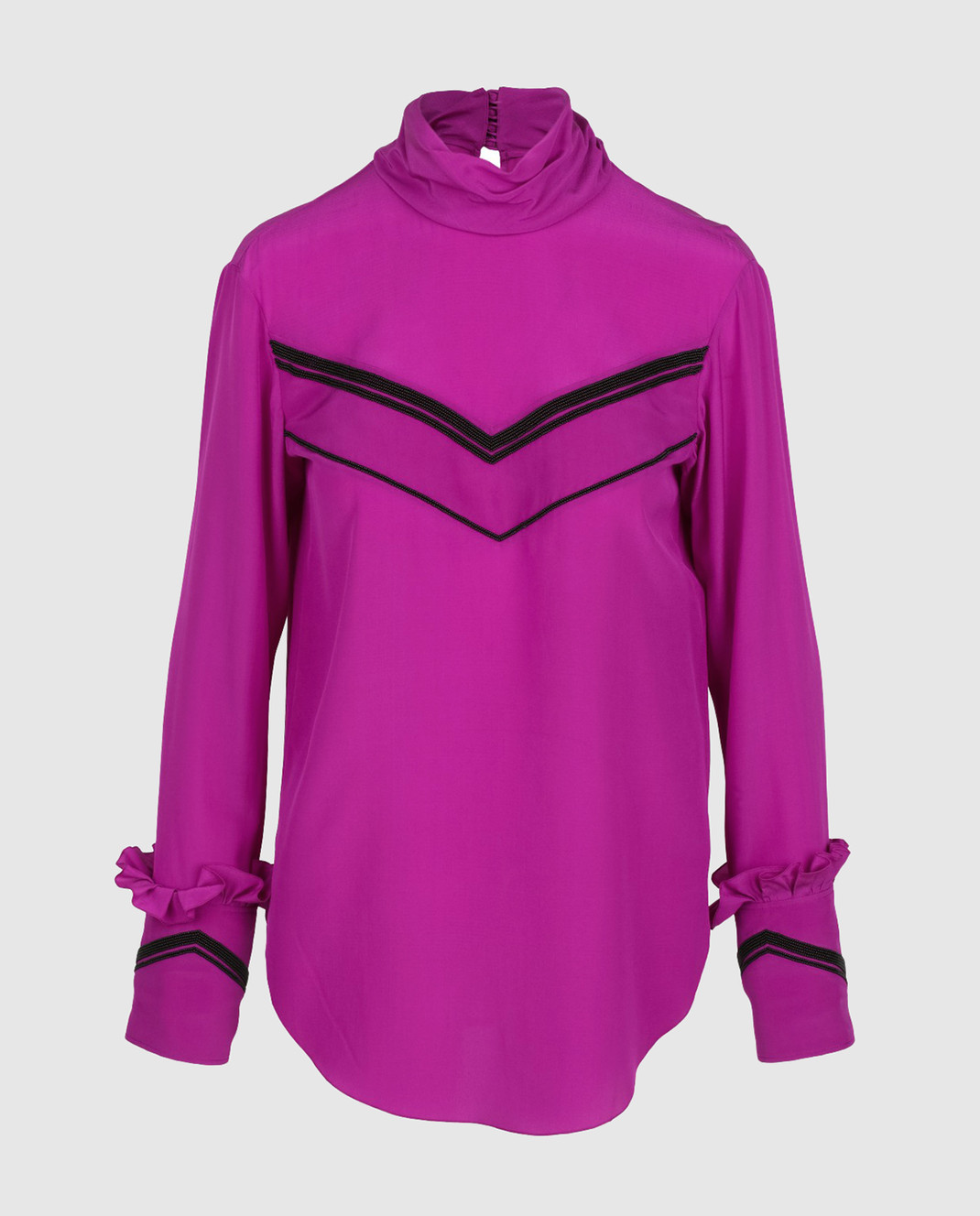 NINA RICCI Розовая блуза из шелка 17PCTO016SE0801