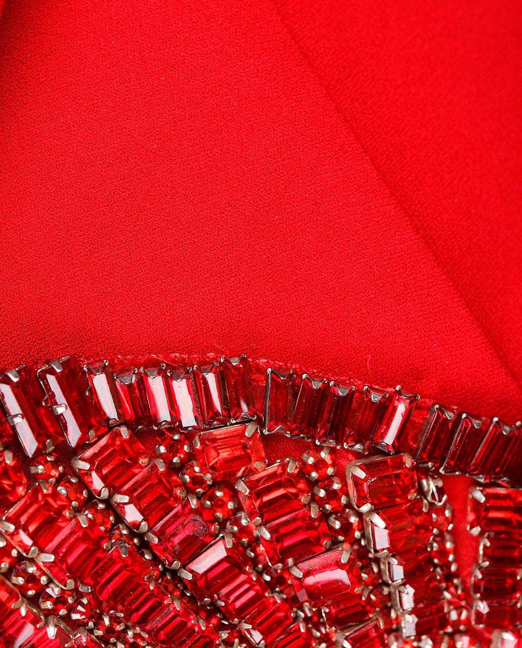 Roberto Cavalli Красное платье со шлейфом XPR184 изображение 5