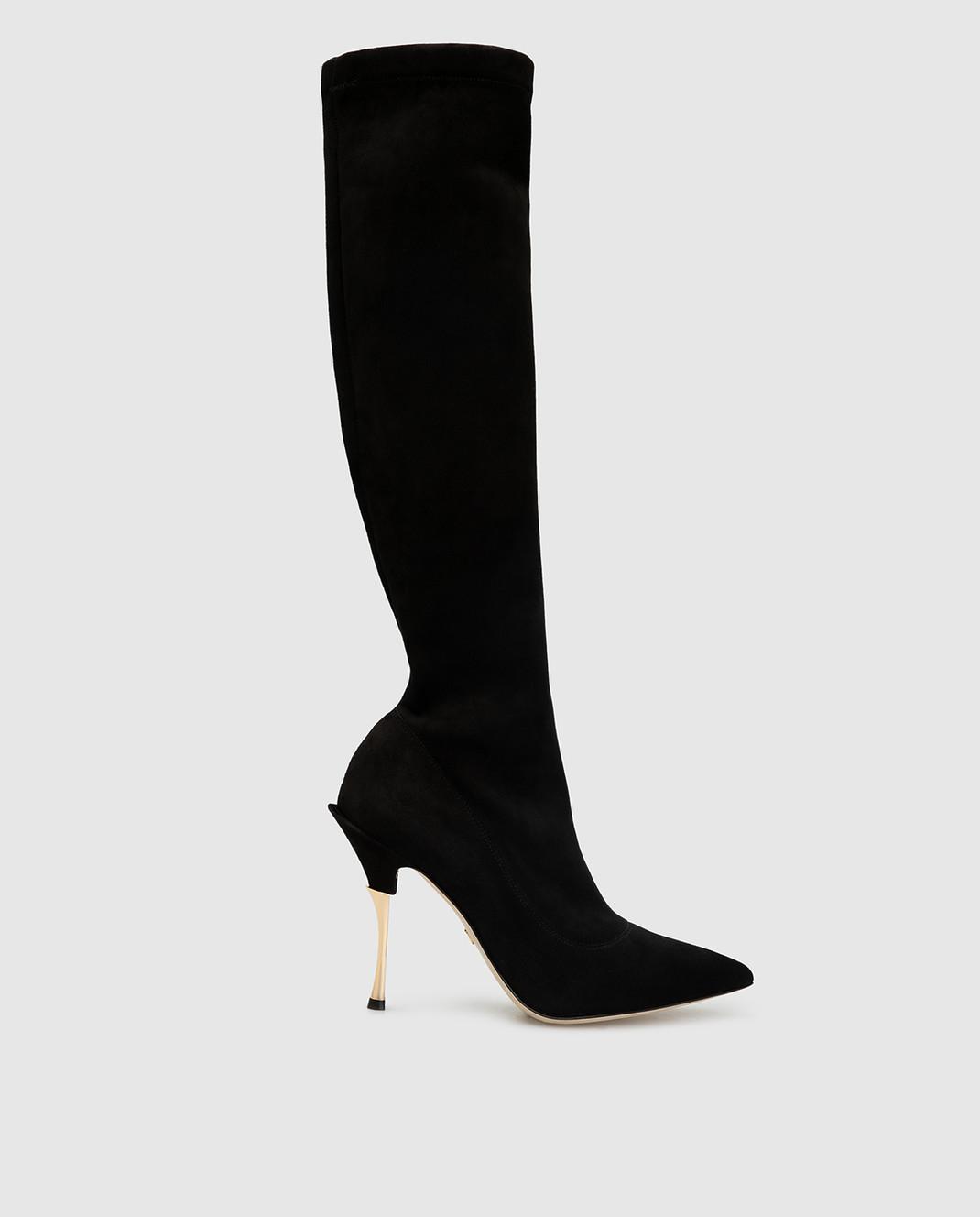 Dolce&Gabbana Черные замшевые сапоги CU0441AC700
