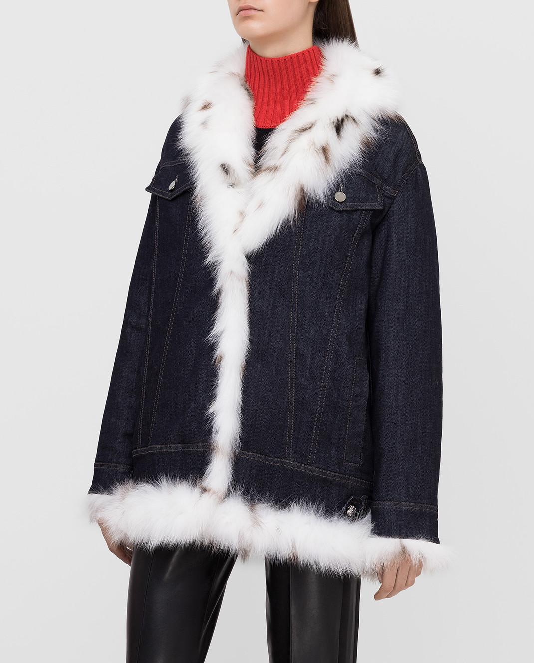 Florence Mode Темно-синяя куртка на меху STELLA изображение 3