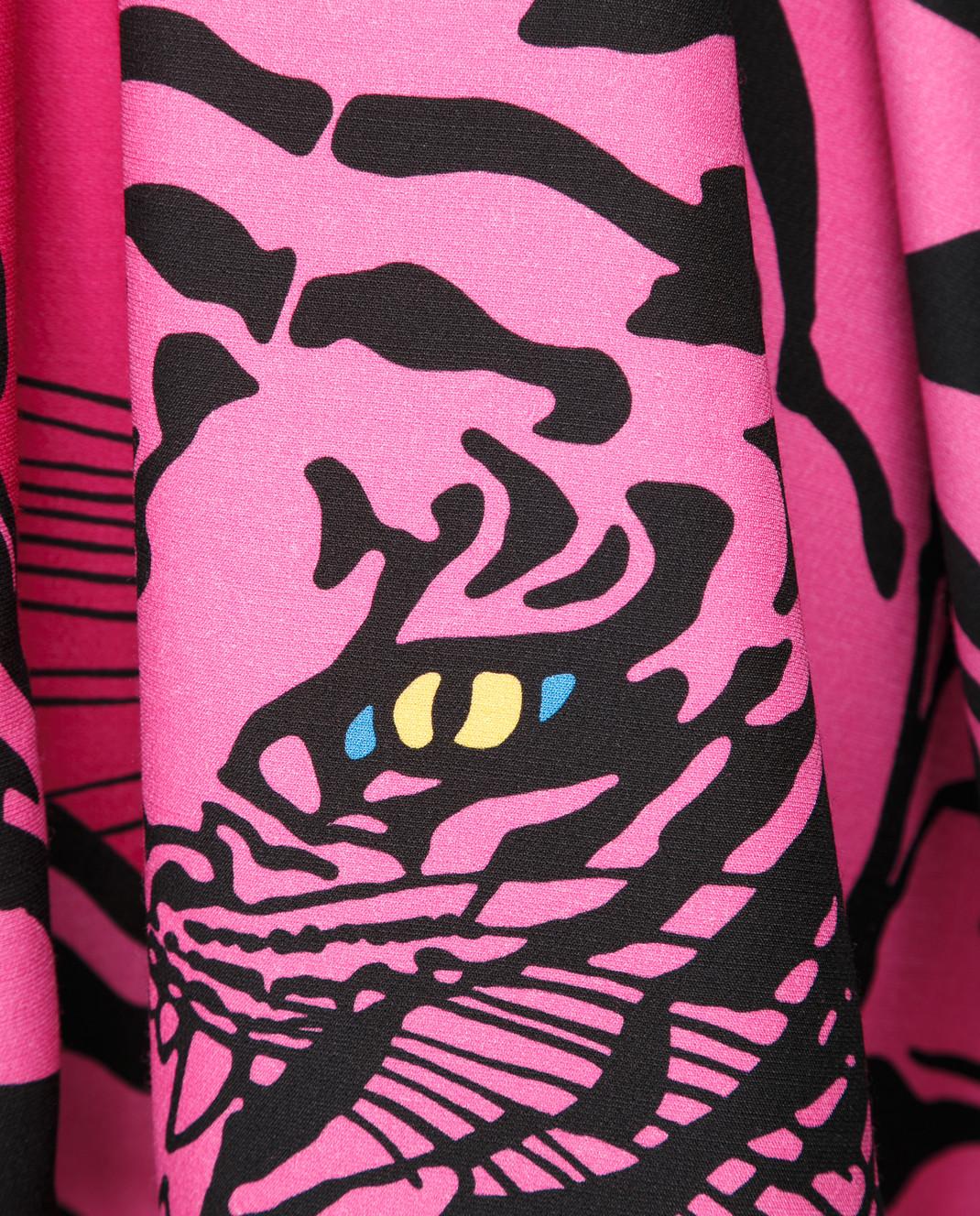 Valentino Розовая юбка из шерсти и шелка QB3RA3W546B изображение 5