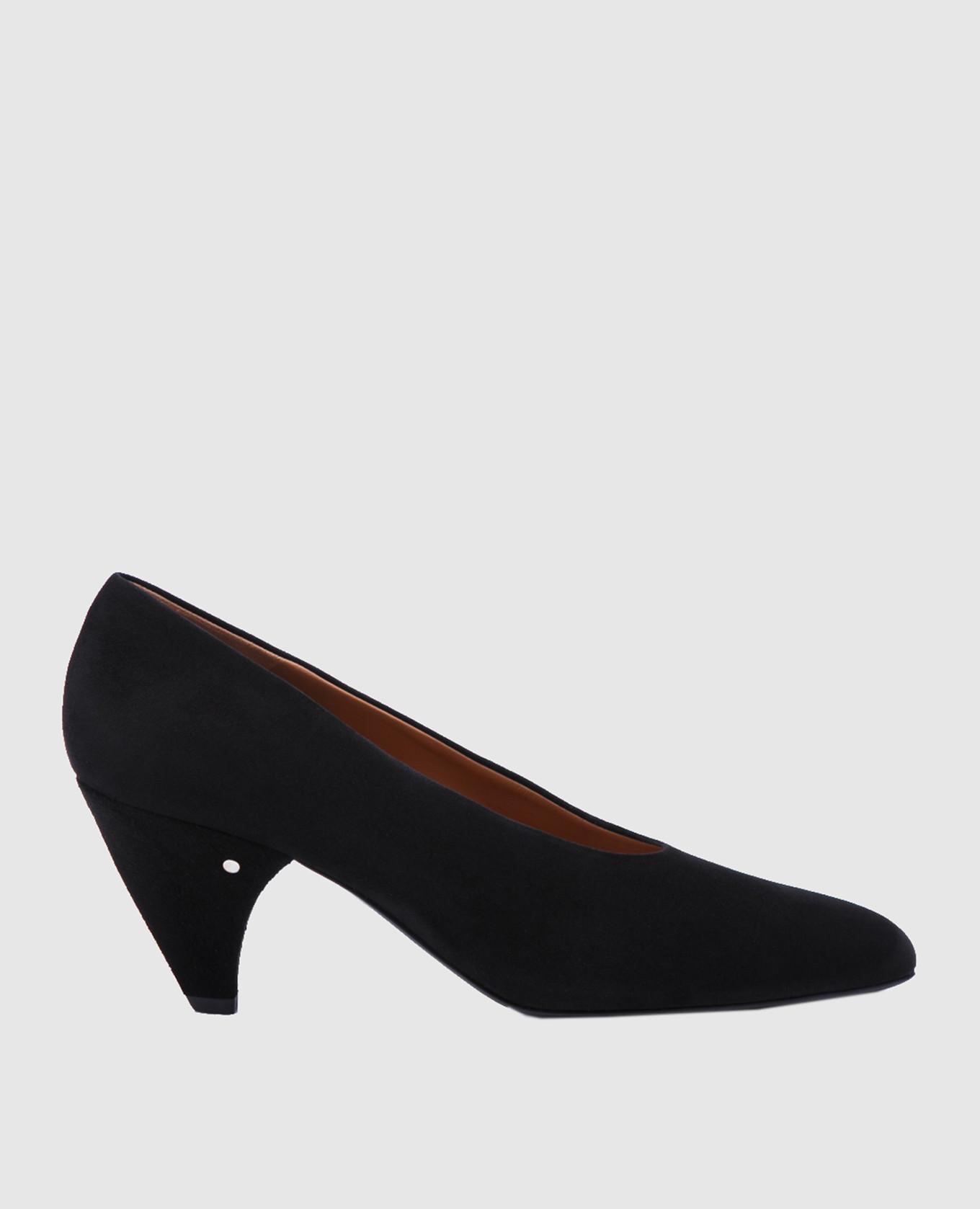 Черные замшевые туфли Sabi