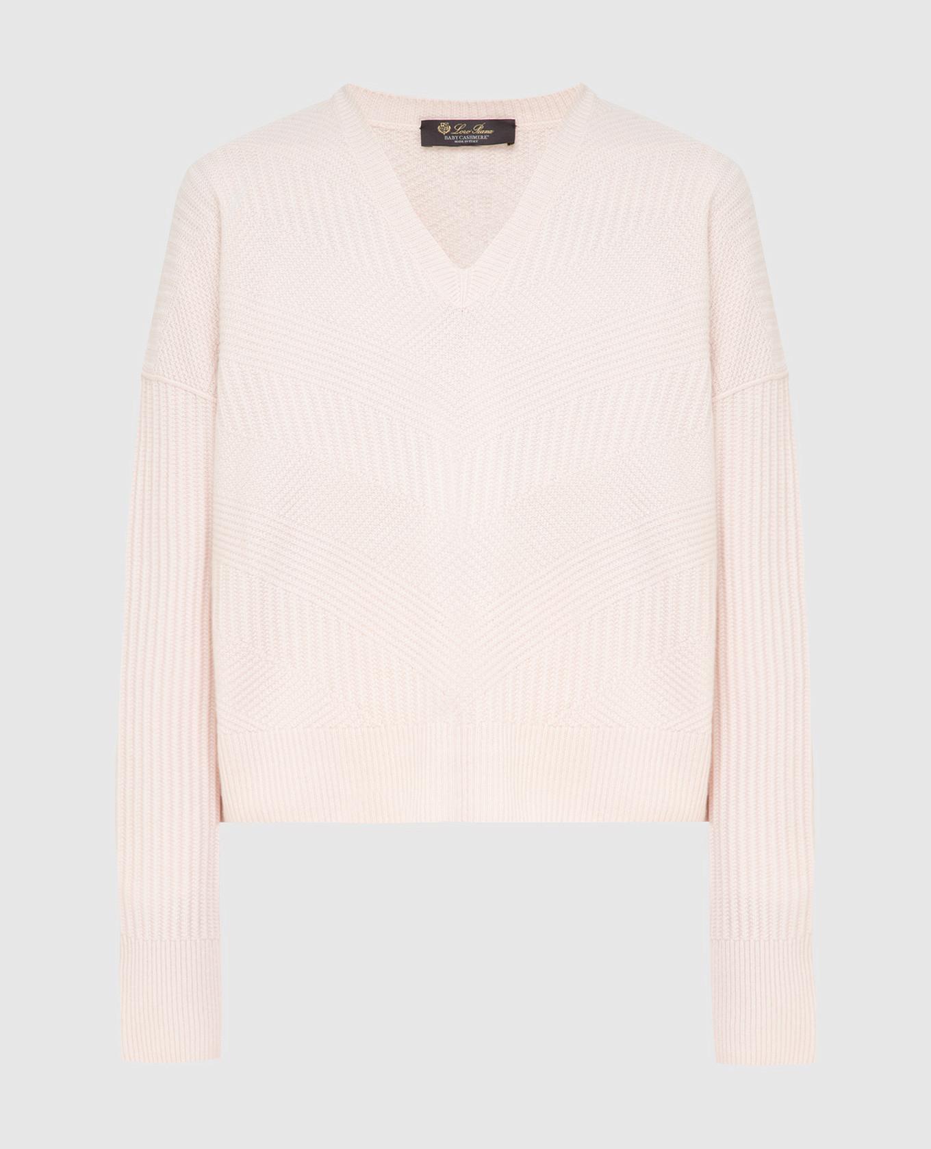 Розовый пуловер из кашемира