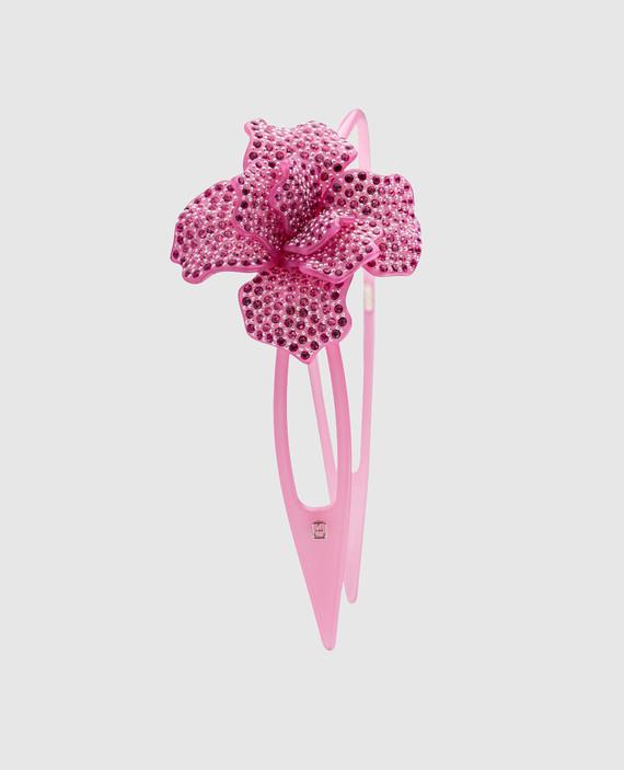 Розовый обруч для волос AcapulcoJungle