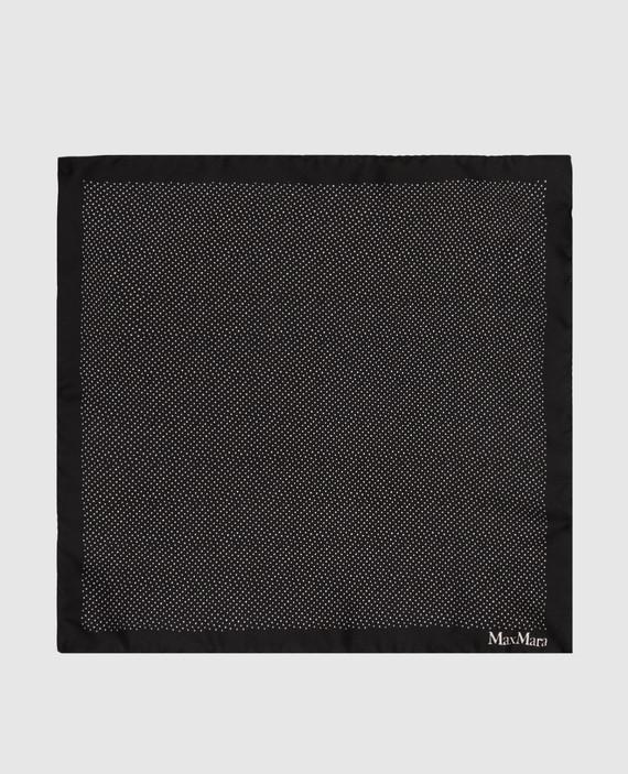 Черный платок из шелка