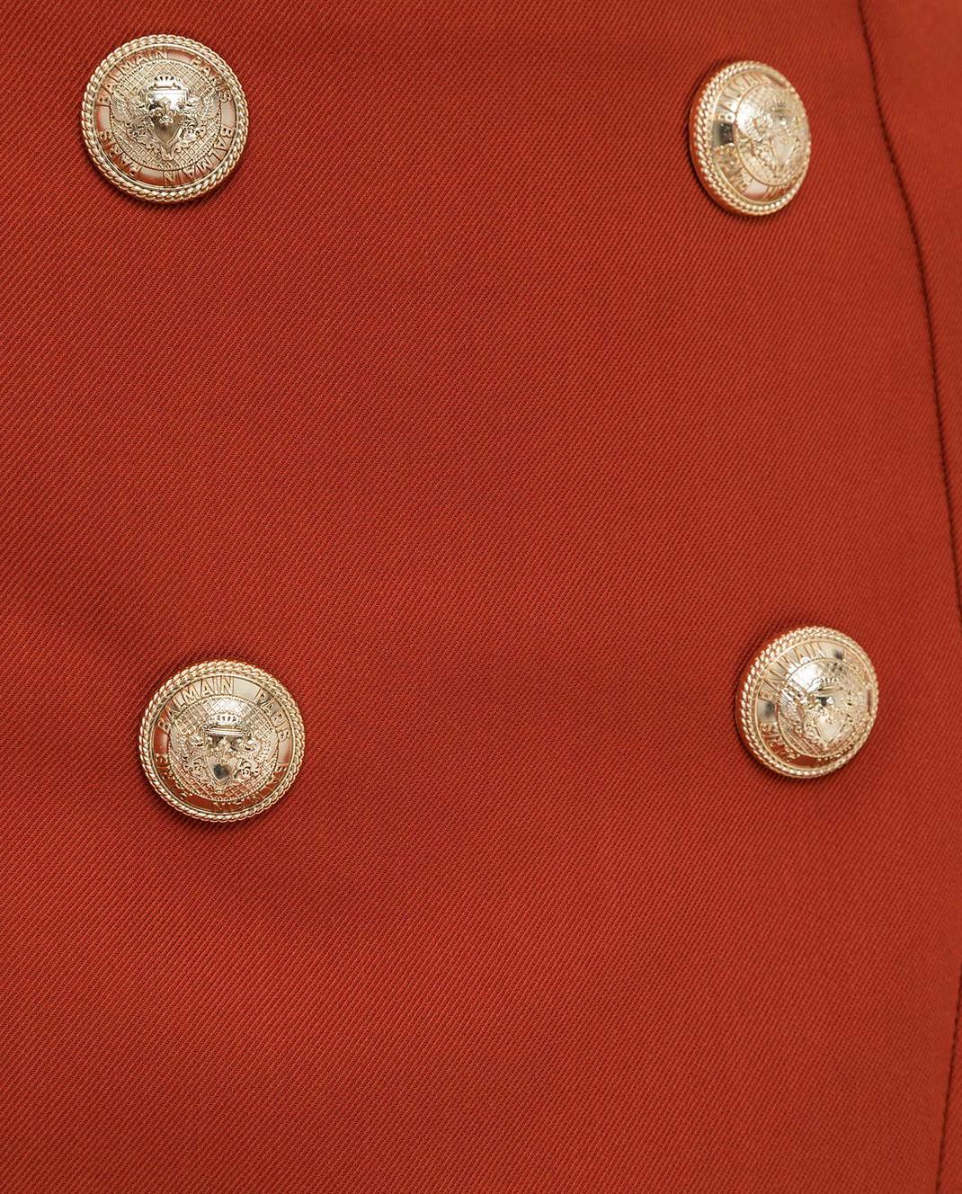 Balmain Терракотовая юбка TF14046V093 изображение 5