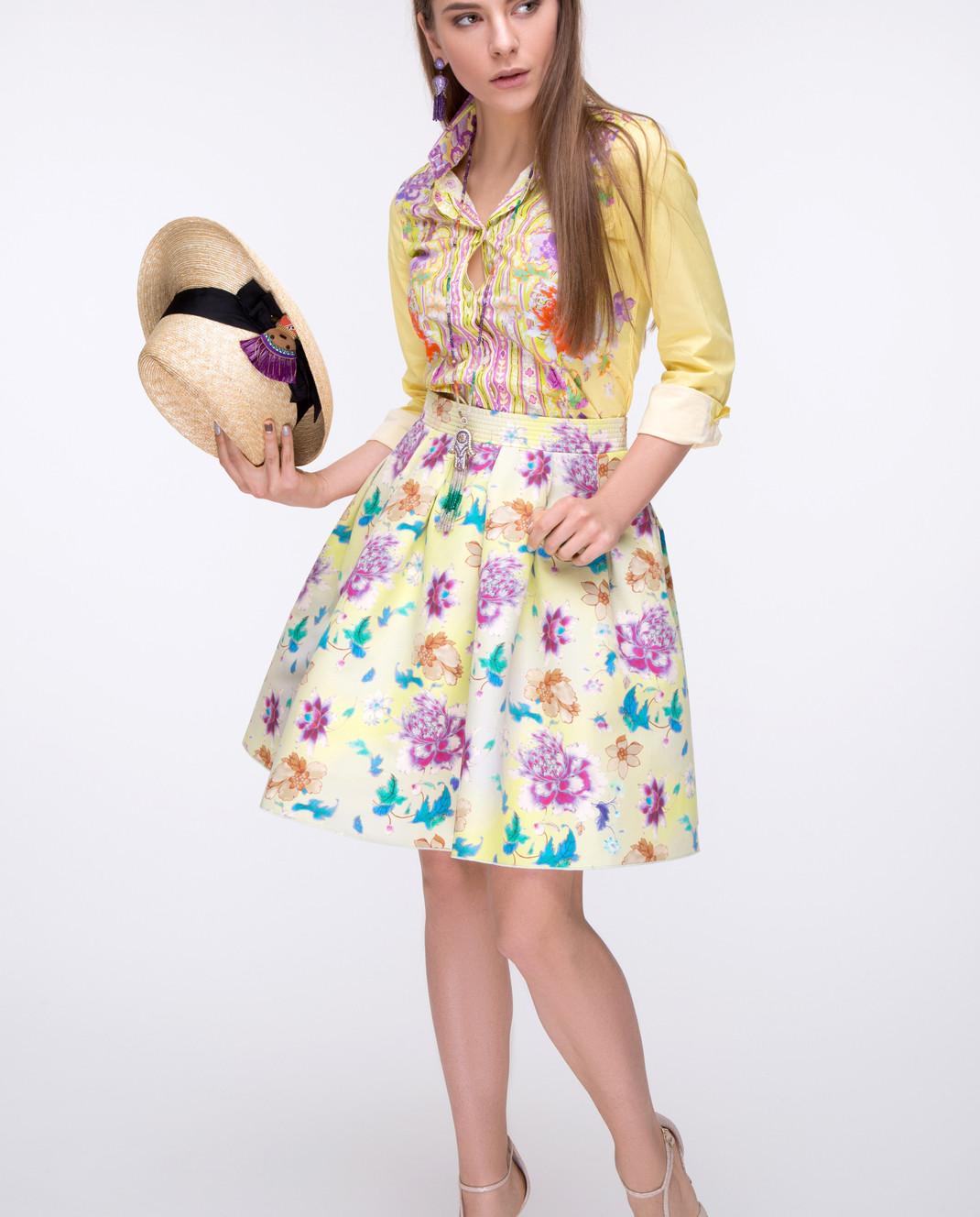 Etro Желтая юбка D150134547 изображение 2