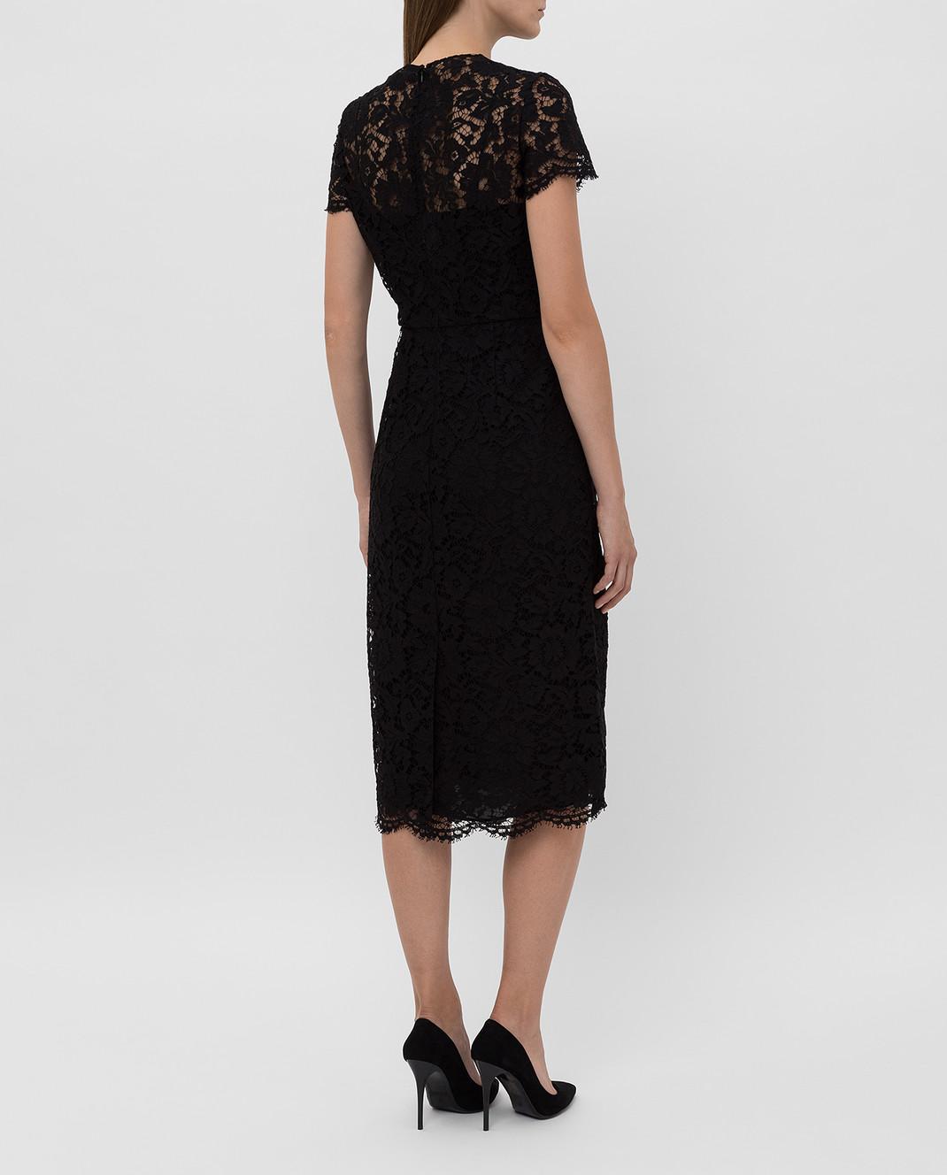 Valentino Черное платье из кружева SB3VABP51EC изображение 4