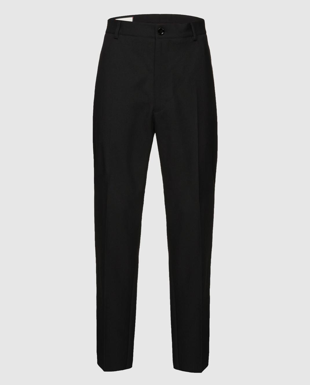 Gucci Черные брюки из шерсти 512968