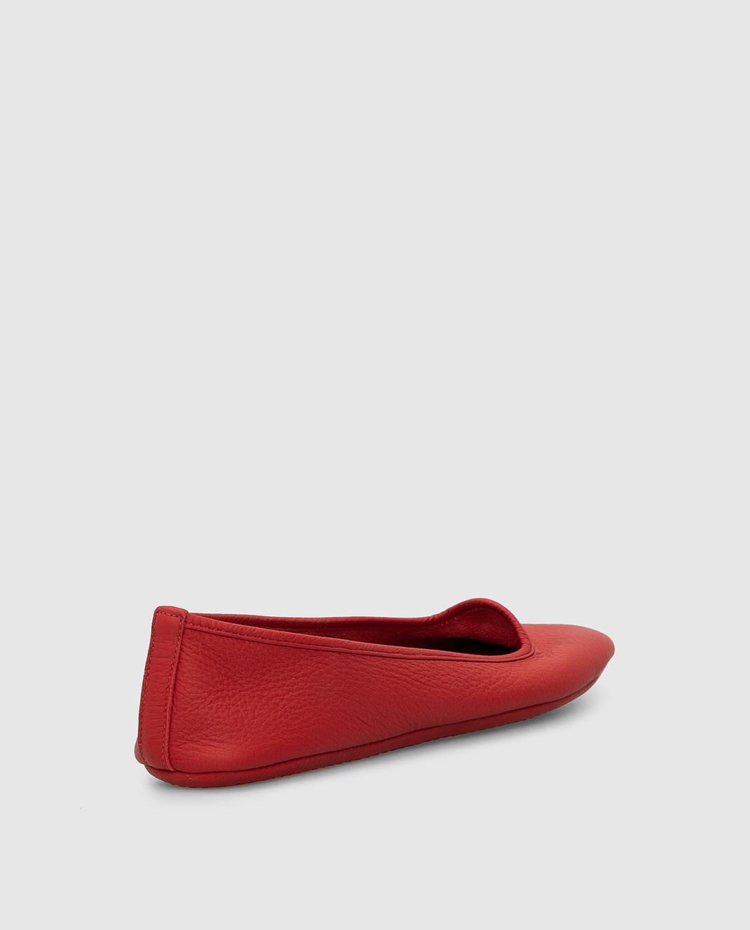 Loro Piana Красные кожаные балетки F3FAF8837 изображение 4